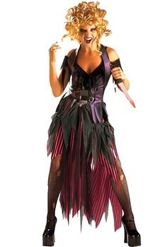 """<p>Women's totally kooky Ghouldilocks <a title=""""Shop Halloween Costumes Online"""" href=""""http://www.heavencostumes.com.au/halloween.html"""" target=""""_self"""">Halloween costume</a> by Rubies. This is what happens when you mess with her porridge! Wear this horror fairytale evil Goldilocks costume to this years Halloween fancy dress costume party. See below for full description and size details.</p>"""