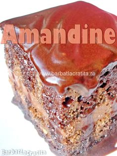 Amandine - reteta clasica a prajiturii insiropate si glazurate cu ciocolata. Tiramisu, Ethnic Recipes, Christmas, Romanian Recipes, Rome, Xmas, Navidad, Noel, Tiramisu Cake