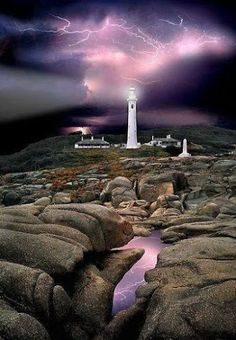Amazing Lightning at the Lighthouse Hicks Point Lighthouse - Australia Google+