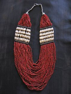 Indian Necklace  Beaded Native American Glass by greenleafvintage1, $95.99