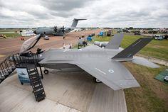 F-35 на авиабазе Фэйрфорд в Великобритании, июль 2016 года