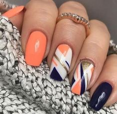 opi nail polish [TOP NAILS] 26 Best Nails for Nail Inspiration - Fav Nail Art opi nail polish Stylish Nails, Trendy Nails, Cute Nails, Hair And Nails, My Nails, Manicure E Pedicure, Gel Nail Designs, Orange Nail Designs, Nagel Gel