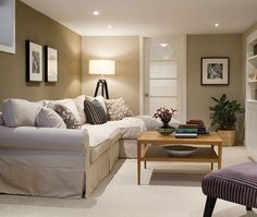 the best decorating and paint colour ideas for a dark basement or family room