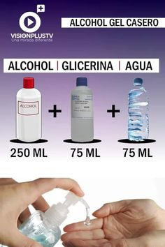 Alcohol En Gel, Beautiful Gif, Diy Cleaners, Anti Stress, Survival Skills, Clean House, Cleaning Hacks, Biodegradable Products, Helpful Hints