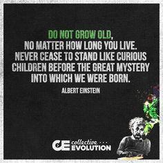 Albert Einstein - Never stop being curious