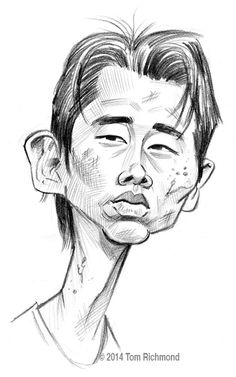 Steven Yeun - GLENN  © 2014 Tom Richmond