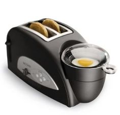 This kitchen gadget is awesome! Eggs and toast with no clean up? Yes please!