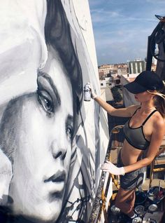 By Volchkova - At Citric Festival in Torreblanca, Spain - Street Art Utopia Street Art Utopia, Street Art Graffiti, Urban Street Art, Urban Art, Art Music, Music Artists, Seen Graffiti, Art Addiction, Street Artists