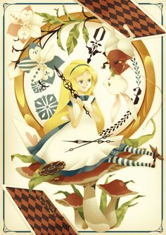 Alice and the White Rabbit!