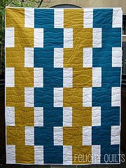 not my colors, but would make an EASY quilt