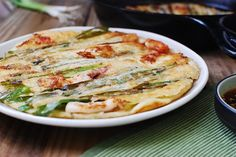 Haemul Pajeon Seafood Pancake (Korean Food) = One of my favourite restaurant dishes!