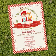 Little Red Riding Hood Party Invitation by SunshineParties... SO cute!