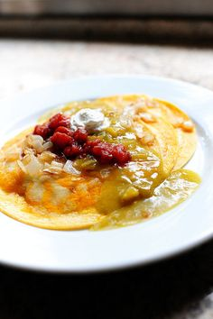 easy green chile enchiladas from Pioneer Woman. Reminds me of back home in New Mexico...