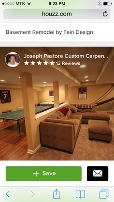 A Modest Basement   Traditional   Basement   Other Metro   Joseph Pastore  Custom Carpentry U0026 Remodeling Inc.