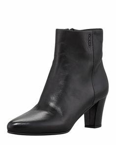 Prada Linea Rossa Napa Mid-Heel Ankle Boot, Black - Bergdorf Goodman
