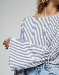 a6b6a653a77b Belled sleeve shirt - Blouses   shirts - Clothing - Woman - PULL BEAR  Tunisia Femme,