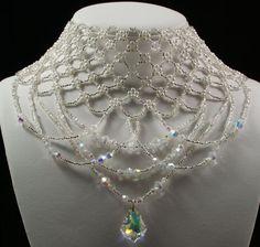 Swarovski crystal silver Czech glass pearl by originalbeading