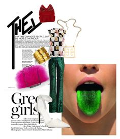 """emerald city"" by tonimaria ❤ liked on Polyvore featuring Green Girls, BCBGMAXAZRIA, Balmain, Hervé Van Der Straeten, MSGM, Roman Luxe and Alexander Wang"