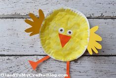 Pappteller Chick {Kid Craft} - Paper Plate Crafts For Kids - Easter Arts And Crafts, Paper Plate Crafts For Kids, Spring Crafts For Kids, Daycare Crafts, Classroom Crafts, Toddler Crafts, Paper Plate Art, Paper Plates, Easter Activities
