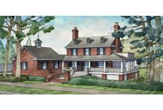 ePlans Georgian House Plan – 2909 Square Feet and 4 Bedrooms from ePlans – House Plan Code HWEPL75745