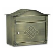 """Architectural Mailboxes """"Eternity""""  16-1/2-in x 13-1/2-in Metal Antique Brass Lockable Wall Mount Mailbox  Constructed with over 14 lbs. of stainless steel Hand finished in antique brass Locking-access door with stainless-steel cam lock Spacious, mail-storage compartment Large 1-1/2"""" x 13"""" incoming-mail slot easily accepts mail bundles"""