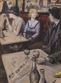 Nevinson, CRW (b,1889)- Lilies of the Cafe, c 1919