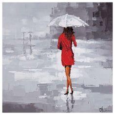 Red Rain - Art mural - Déco | Montréal Luminaire & Quincaillerie