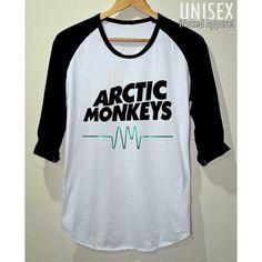 V.2 Arctic Monkeys AM Space T- Shirt 3/4 Sleeve Baseball Unisex Size S... ($15) ❤ liked on Polyvore