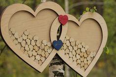 Wedding Guestbook Alternative Guest Book Drop Top hearts Rustic Guest Book Two Hearts,Rustic Wedding Idea,Wedding drop top box,Wedding Gift