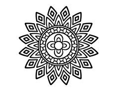 Dibujo de Mandala destellos para Colorear