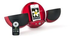 Vestalife Ladybug II iPod & iPhone Speaker Dock in Red