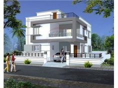 Duplex house plans, dream house plans, two story house plans, small house plans Duplex House Plans, Dream House Plans, Modern House Plans, Small House Plans, House Front Design, Modern House Design, Haus Am Hang, Beautiful Small Homes, Independent House
