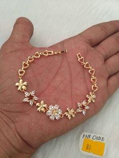 Gold Jewelry Design In India 18k Gold Jewelry, Hand Jewelry, Jewelery, Stylish Jewelry, Jewelry Accessories, Jewelry Design, Bracelet Designs, Necklace Designs, Diamond Bracelets