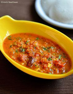 Onion tomato thokku/chutney for idli,dosa & roti ! - Simple n delicious side dish recipe
