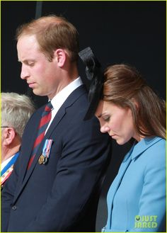 kate middleton prince william pay respects at d day 70th anniversary 28 Catherine, Duchess of Cambridge (aka Kate Middleton) and Prince William applaud a speaker at the 70th anniversary of the D-Day landings on Friday (June 6) in Arromanches…