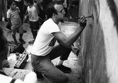 """Keith Haring. Mostra """"Arte di frontiera"""", Palazzo delle Esposizioni, Roma, 1984 Courtesy Stefano Fontebasso De Martino Foto di Stefano Fontebasso De Martino"""