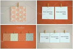 Square Paper Mock Ups- Real Photos by JSquarePresents on @creativemarket