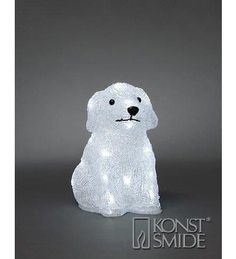 This delightful happy dog has 20 white LEDs making this a fantastic shelf-top decoration. Battery operated - no mains required. Happy Dogs, Battery Operated, Love Is All, Twinkle Twinkle, Piggy Bank, Led, Crochet Hats, Lights, Children