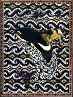 Gennady Pavlishin - illustrations of the Tales of the Amur river in the style of the Art Nouveau (1975)
