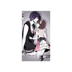 Yay for anime couples ❤ liked on Polyvore featuring anime