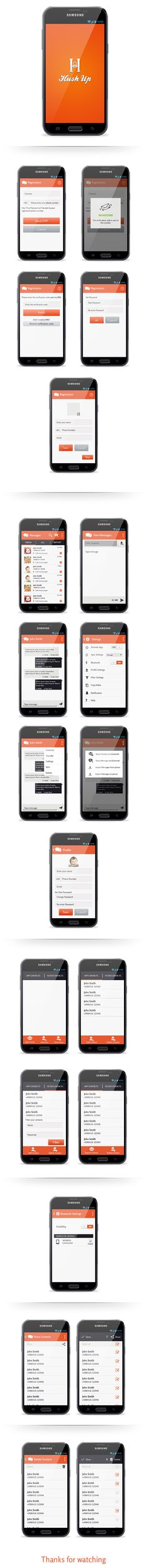 Hush-Up-Android App-keeps your sms private. on Behance