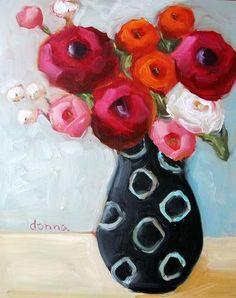 """Black Vase"" | ORIGINAL, Pattern Series - Donna Downey Studios Inc"
