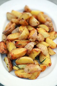 Roasted Potatoes on the Grill Recipe (These roasted potatoes make a simple and delicious side dish for grilling. Best part? No running back and forth between stovetop and grill!)