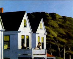 Soleil au balcon de Edward Hopper