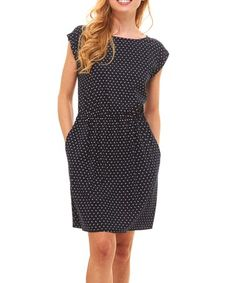 0730ce40 Loving this Navy Birds Side-Pocket Blouson Dress - Women on #zulily! #
