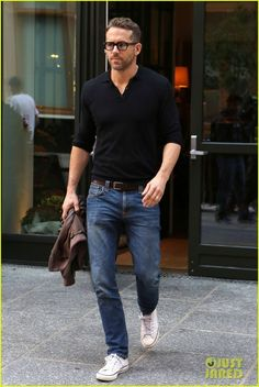 men's casual outfit with glasses combination