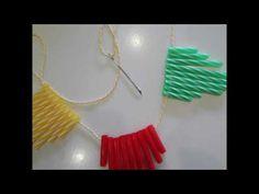 Γιρλάντα από καλαμάκια - YouTube Tassel Necklace, Garland, Tassels, Channel, Youtube, Diy, Jewelry, Jewlery, Bricolage