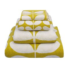 Orla Kiely   UK   House   Bath   Stem Jacquard Hand Towel (0TOWSTJ920)   Mimosa