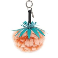 Fendi Women Pineapple Fur Bag Charm (£500) ❤ liked on Polyvore featuring accessories, orange, fur key ring and fendi