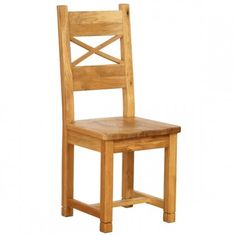 Vancouver Petite Oak Dining Chair with Timber Seat With Cross Back   http://www.tradepricefurniture.co.uk/vancouver-petite-oak-dining-chair-with-timber-seat-with-cross-back.html